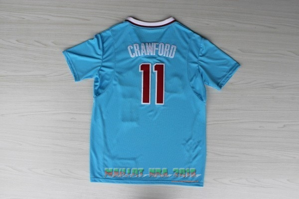 Maillot NBA Los Angeles Clippers Manche Courte NO.11 Jamal Crawford Bleu