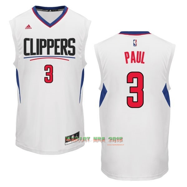Maillot NBA Los Angeles Clippers NO.3 Chris Paul Blanc