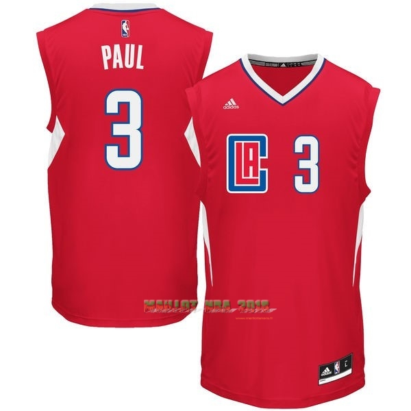 Maillot NBA Los Angeles Clippers NO.3 Chris Paul Rouge