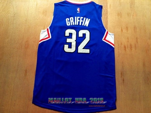 Maillot NBA Los Angeles Clippers NO.32 Blake Griffin Bleu