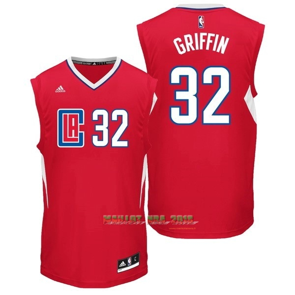 Maillot NBA Los Angeles Clippers NO.32 Blake Griffin Rouge