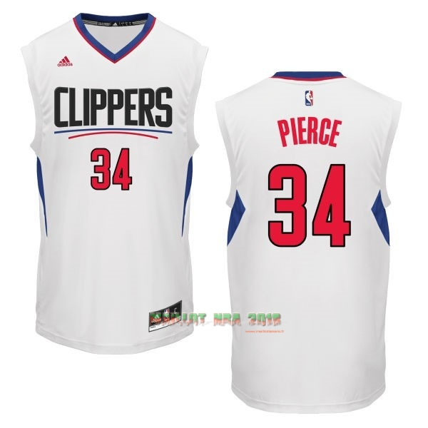 Maillot NBA Los Angeles Clippers NO.34 Paul Pierce Blanc