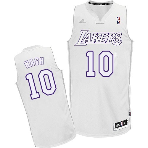 Maillot NBA Los Angeles Lakers 2012 Noël NO.10 Nash Blanc