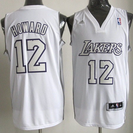 Maillot NBA Los Angeles Lakers 2012 Noël NO.12 Howard Blanc