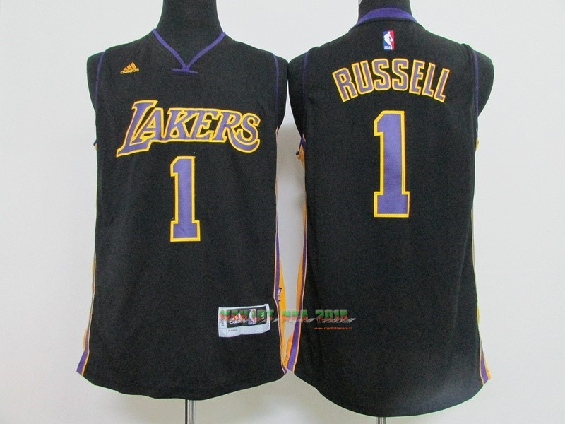 Maillot NBA Los Angeles Lakers NO.1 D'Angelo Russell Noir