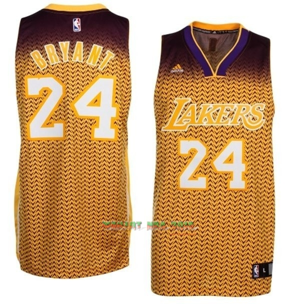 Maillot NBA Los Angeles Lakers Retentisse Fashion NO.24 Bryant Or