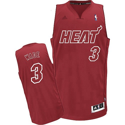 Maillot NBA Miami Heat 2012 Noël NO.3 Wade Rouge