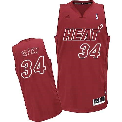 Maillot NBA Miami Heat 2012 Noël NO.34 Allen Rouge