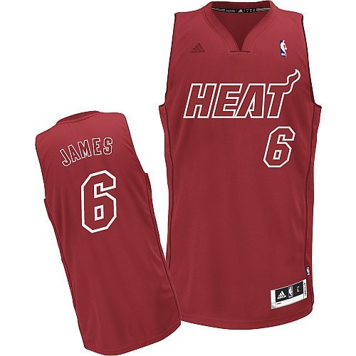 Maillot NBA Miami Heat 2012 Noël NO.6 James Rouge