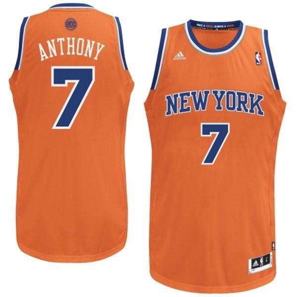 Maillot NBA New York Knicks 2012 Noël NO.7 Anthony Orange