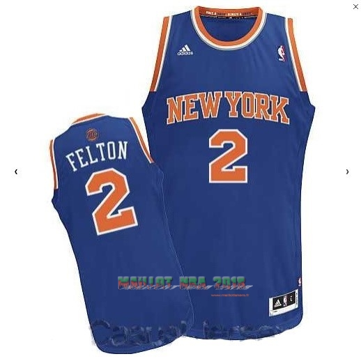 Maillot NBA New York Knicks NO.2 Raymond Felton Bleu