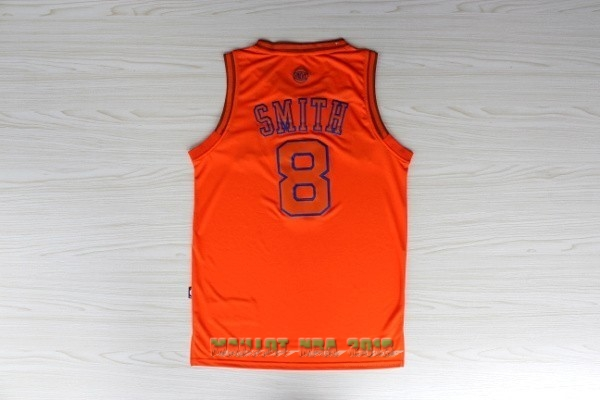 Maillot NBA New York Knicks NO.8 J.R.Smith Orange