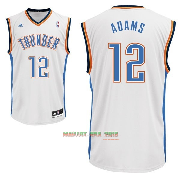 Maillot NBA Oklahoma City Thunder NO.12 Steven Adams Blanc