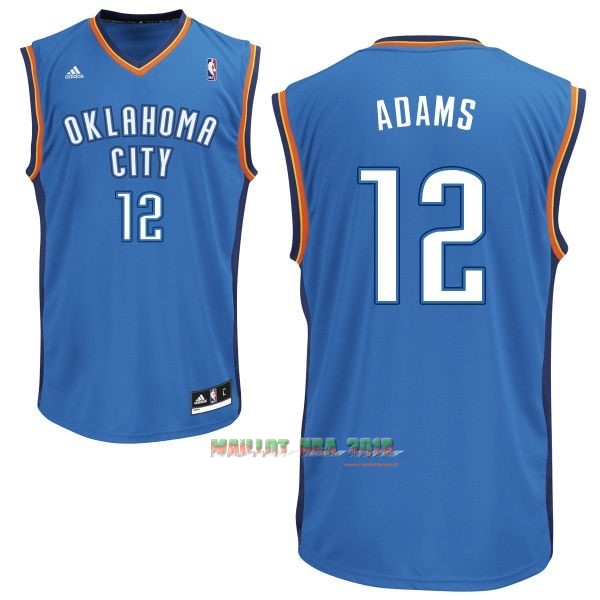 Maillot NBA Oklahoma City Thunder NO.12 Steven Adams Bleu