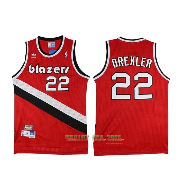 Maillot NBA Portland Trail Blazers NO.22 Clyde Drexler Rouge