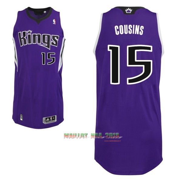 Maillot NBA Sacramento Kings NO.15 DeMarcus Cousins Pourpre