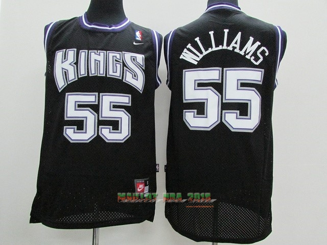 Maillot NBA Sacramento Kings NO.55 Jason Williams Noir