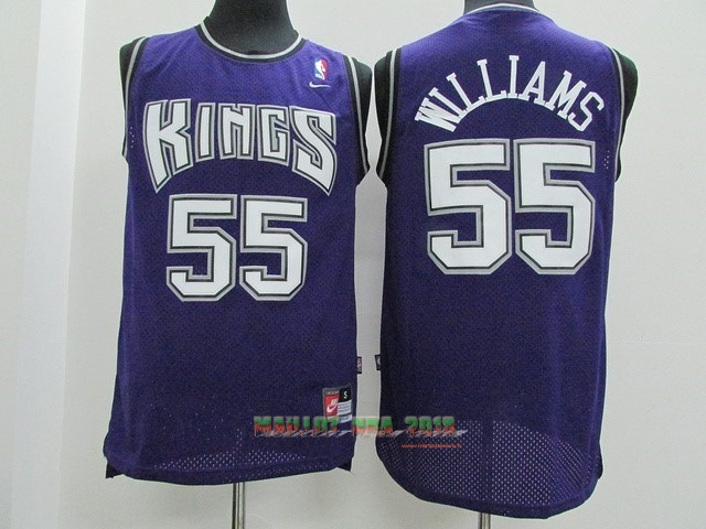 Maillot NBA Sacramento Kings NO.55 Jason Williams Pourpre