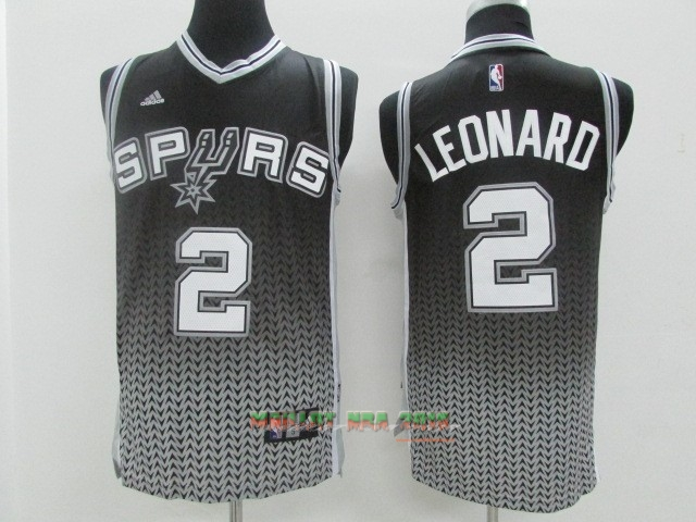 Maillot NBA San Antonio Spurs Retentisse Fashion NO.2 Leonard Gris