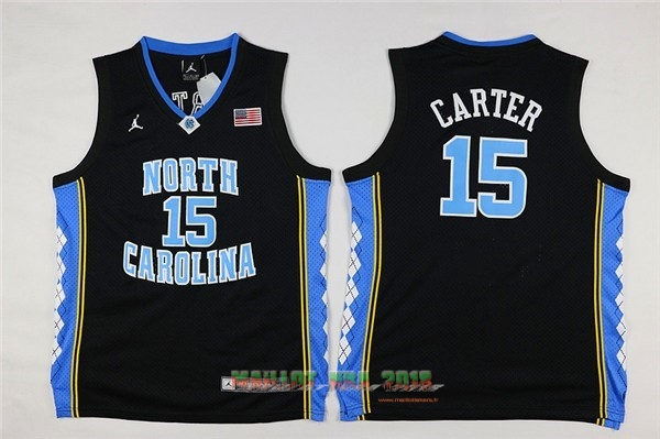 Maillot NCAA Enfant North Carolina NO.15 Vince Carter Noir
