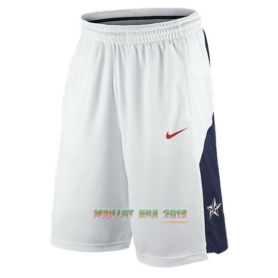Short Basket 2012 USA Blanc