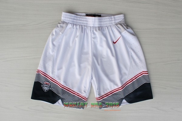 Short Basket 2014 USA Blanc