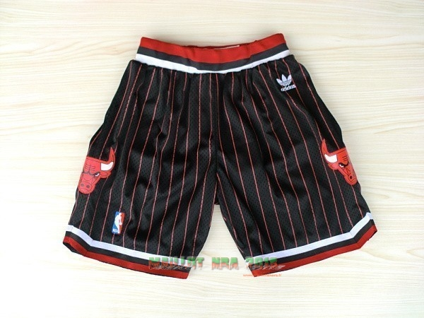 Short Basket Adidas Chicago Bulls Noir Bande