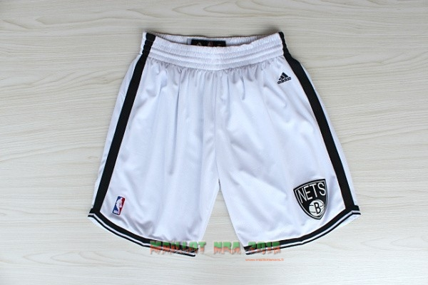Short Basket Brooklyn Nets Blanc