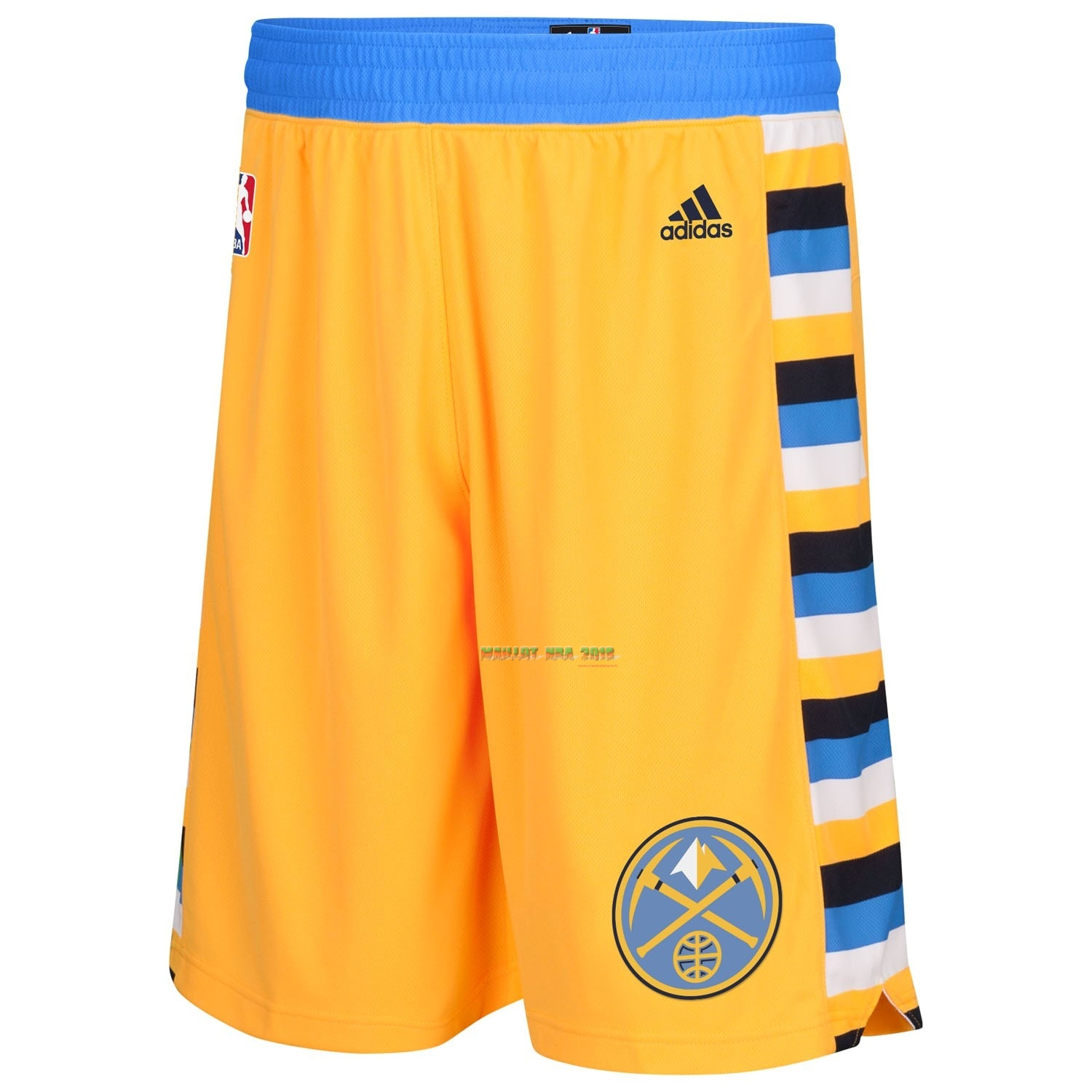 Short Basket Denver Nuggets Jaune