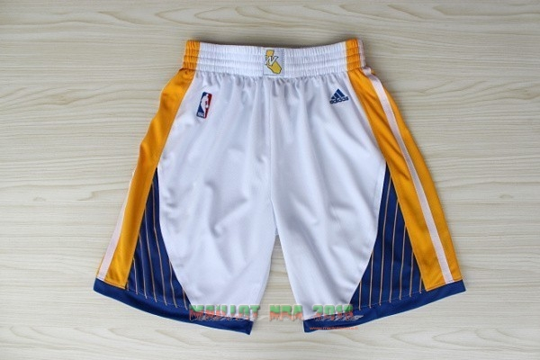 Short Basket Golden State Warriors Blanc