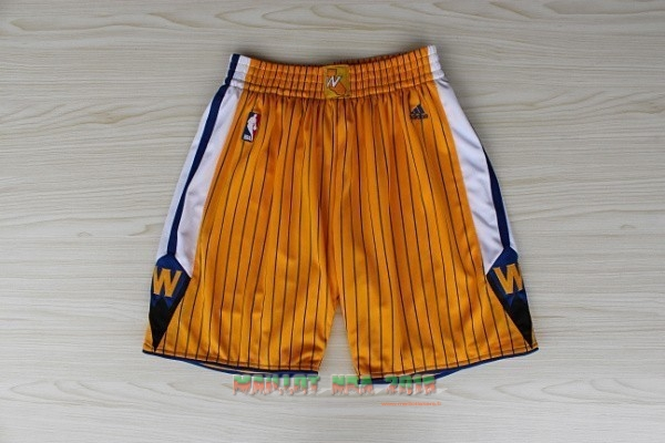 Short Basket Golden State Warriors Jaune