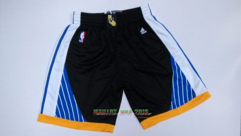 Short Basket Golden State Warriors Noir