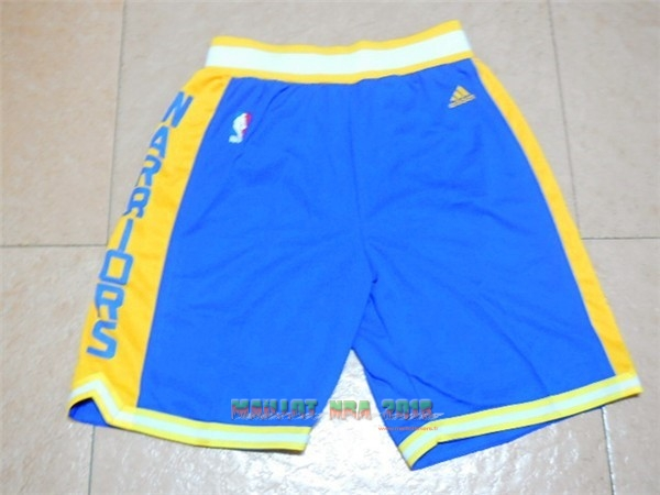 Short Basket Golden State Warriors Retro Bleu