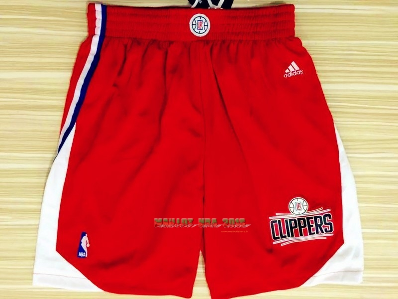 Short Basket Los Angeles Clippers Rouge