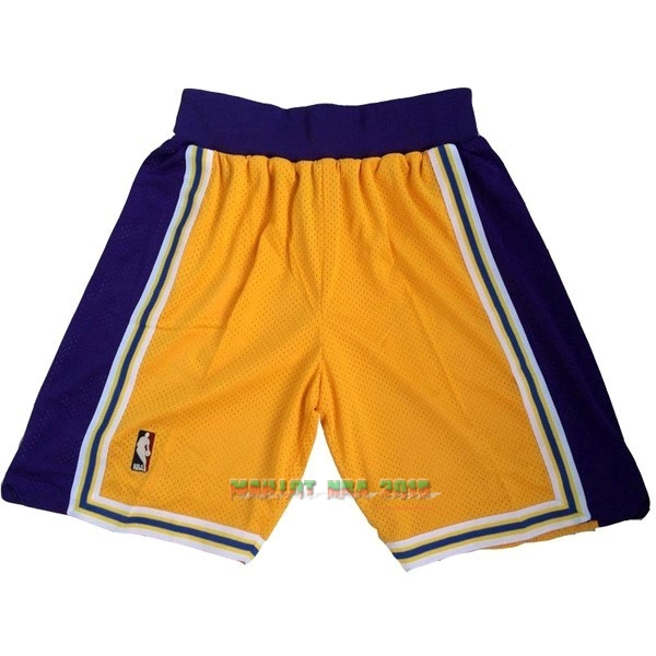 Short Basket Los Angeles Lakers Jaune