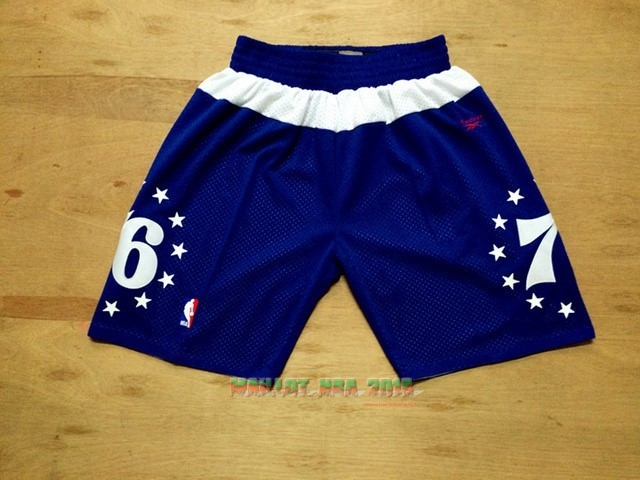 Short Basket Philadelphia Sixers Retro Bleu