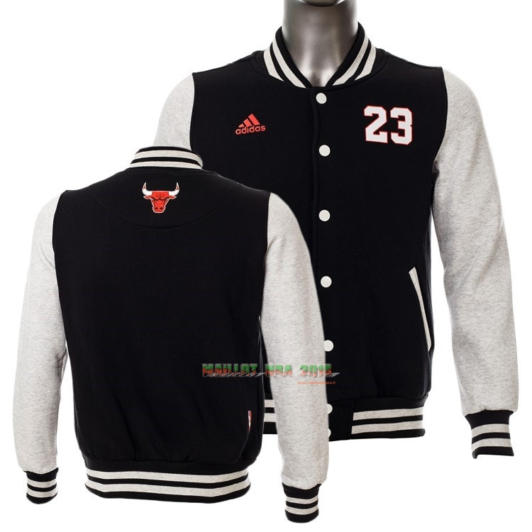 Survetement En Laine NBA Chicago Bulls NO.23 Michael Jordan Noir