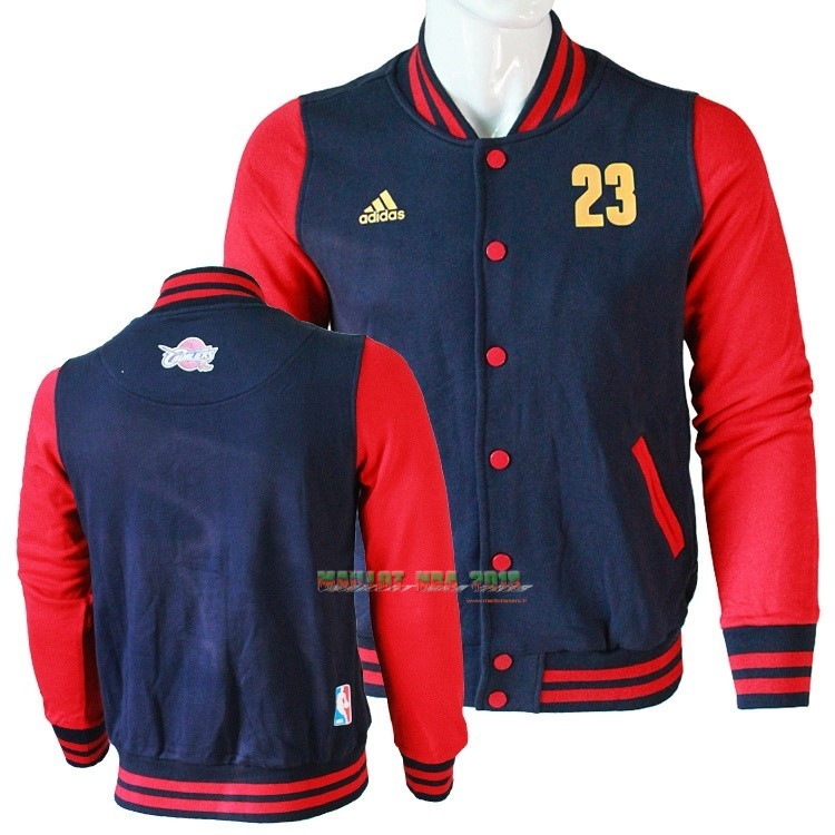 Survetement En Laine NBA Cleveland Cavaliers NO.23 LeBron James Negr Rouge