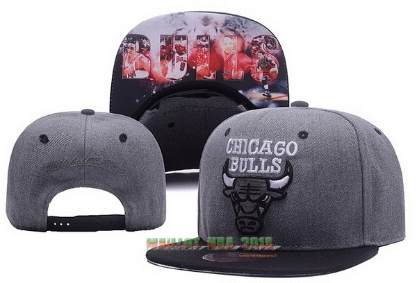 Bonnet 2017 Chicago Bulls Gris NO.03