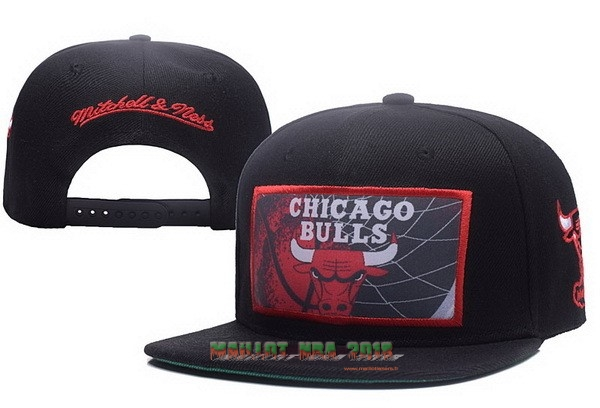 Bonnet 2017 Chicago Bulls Rouge Noir NO.01