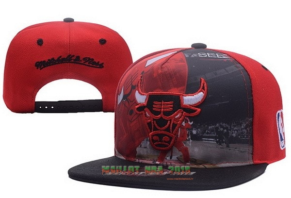 Bonnet 2017 Chicago Bulls Rouge Noir NO.03