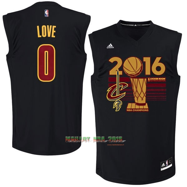 Maillot NBA Cleveland Cavaliers 2016 Final Champions NO.0 Kevin Love Noir