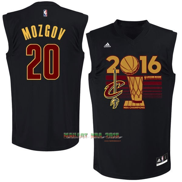 Maillot NBA Cleveland Cavaliers 2016 Final Champions NO.20 Timofey Mozgov Noir
