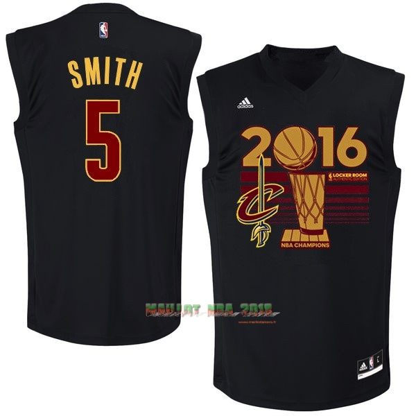 Maillot NBA Cleveland Cavaliers 2016 Final Champions NO.5 J.R.Smith Noir