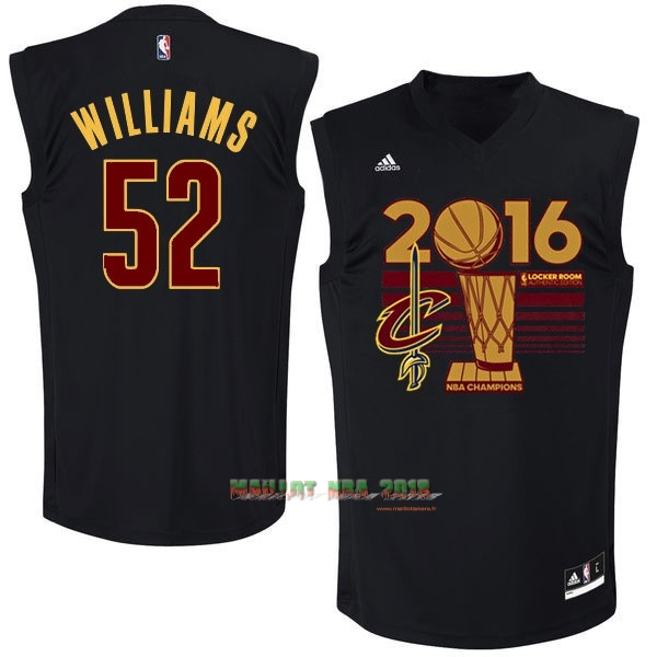 Maillot NBA Cleveland Cavaliers 2016 Final Champions NO.52 Mo Williams Noir