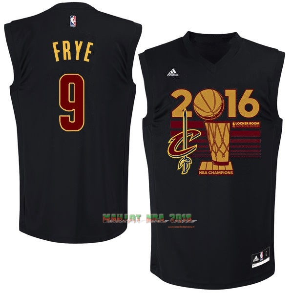 Maillot NBA Cleveland Cavaliers 2016 Final Champions NO.9 Channing Frye Noir