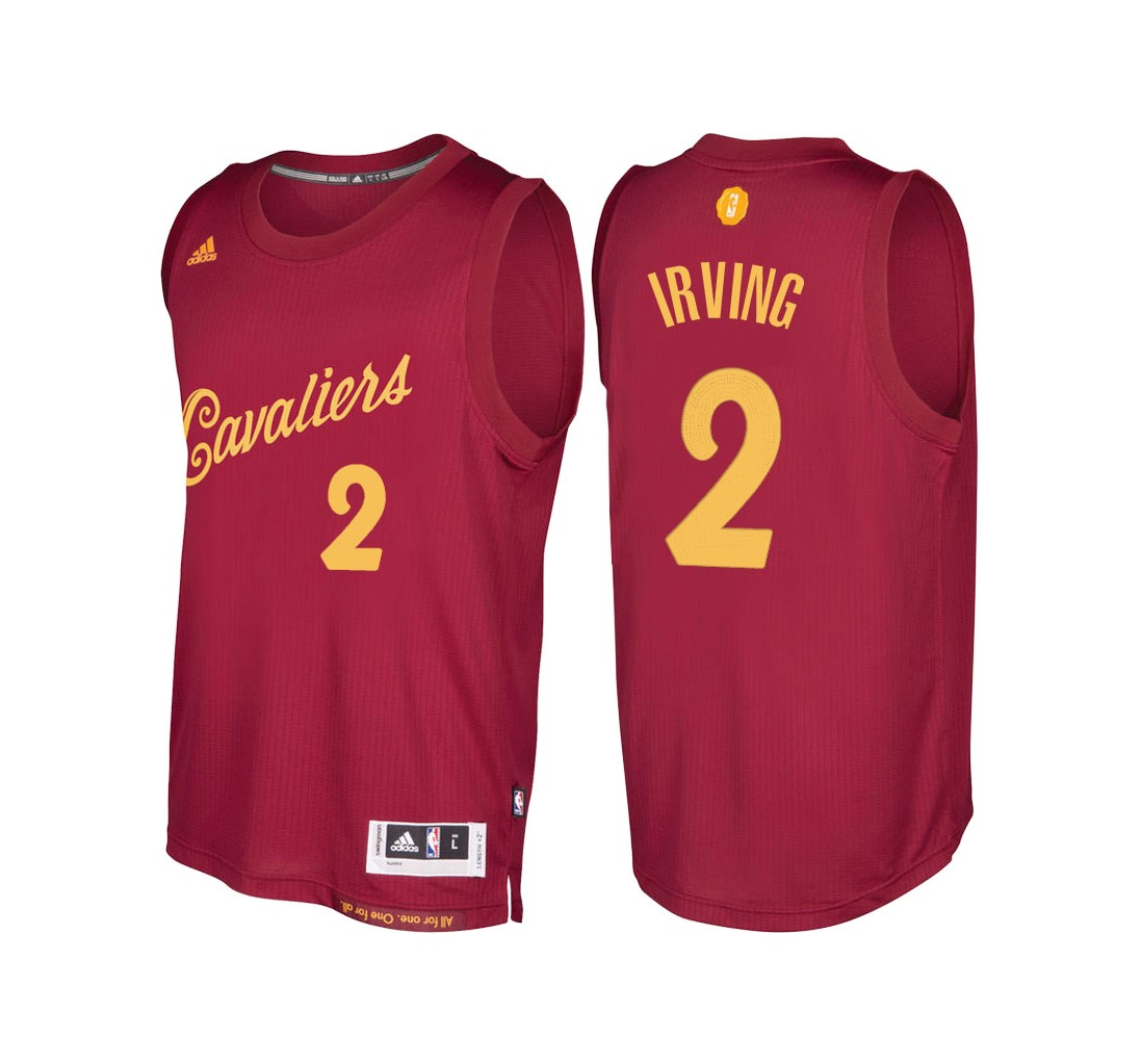 Maillot NBA Cleveland Cavaliers 2016 Noël NO.2 Kyrie Irving Rouge
