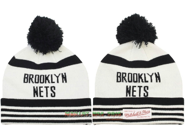 Tricoter un Bonnet 2017 Brooklyn Nets Blanc