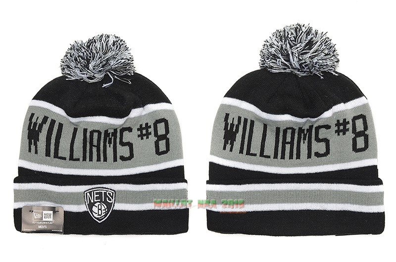 Tricoter un Bonnet 2017 Brooklyn Nets Gris NO.01