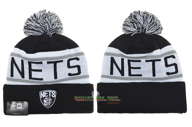 Tricoter un Bonnet 2017 Brooklyn Nets Gris NO.02